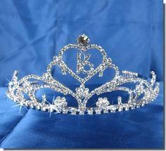 Sweet 16 Birthday Princess Party Prom Crown Crystal Tiara 41657 on eBay!