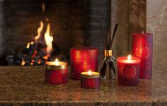 Shearer Candles Hollyberry and Clove Candles. A dark red fragrance spliced with cinnamon and cloves. This bright red collection is perfect for adding colour to your home, especially at winter. Available as jar candles, tin candles, pillar candles, tealights, in candle gift boxes, as, scented reed diffusers, diffuser refills and pillar jar candles. Beautiful red packaging.
