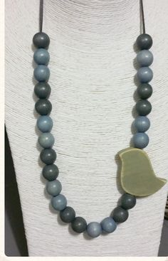 Items similar to Polished beads with washed wood bird, south african on Etsy Beaded Jewelry, Diy Jewellery, Unique Jewelry, Wood Bird, Bead Shop, Ceramic Jewelry, Pearl Necklace, Chunky Necklaces, Jewelry Making