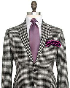 Belvest Black and White Check Sportcoat 2 button jacket Soft jacket Notch…