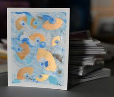 """The """"Evil Eye"""" is a symbol of protection against evil. This illustration includes a card and matching envelope in four different colors. These individually hand"""