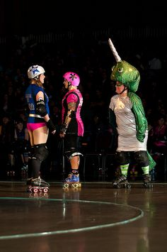 I don't know what is happening here, but if that is a narwhal, then I approve. North Star Rollergirls, photo by Greg Mellang.