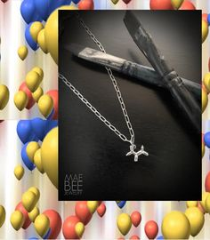 Dog Necklace, Arrow Necklace, Dog Jewelry, Silver Jewelry, Jeff Koons, Balloon Dog, Weekend Wear, Necklaces, Bracelets