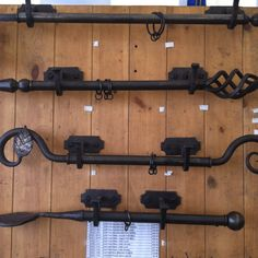 wrought iron curtain rail with button finials | Window treatments ...