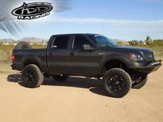 """A new Ford F150 with a custom mounted 31"""" Xtreme Series"""