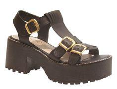 Sandalias de cuero con plataforma