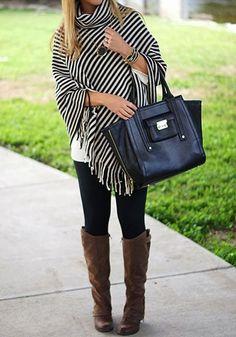 Black Striped Tassel High Neck Fashion Cotton Pullover Sweater