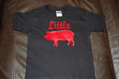 Kids Youth T-Shirt - Black Extra Small (XS) Razorback Tee Little Pig. $12.00, via Etsy.