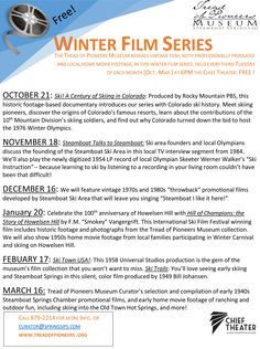 2014-15 Winter Film Series featuring video of how Steamboat Springs' beloved Winter Carnival came to life.