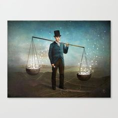 Canvas Print featuring Stardust by Christian Schloe