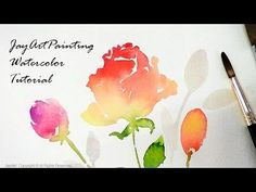 Rose Watercolor Painting Tutorial - Level 3 - YouTube