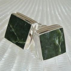 Natural Jade Cufflinks