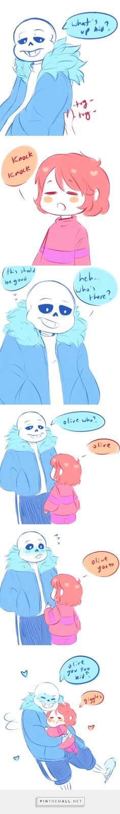 sans and Frisk - comic So Cute ( Undertale )