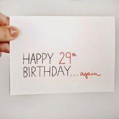 Happy 29th Birthday.. again