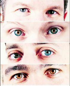 Fall out boy eyes... Wow Top to bottom: Andy, Patrick, Joe, Pete