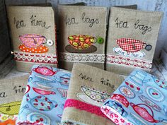 Adorable tea wallets, from mona w.