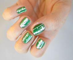 White birch nails. Great for earth day. How cute!