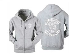 New Arrival Hot TV Sons of Anarchy Zipper Hoodie – 4launt