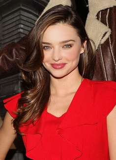 Miranda Kerr has flawless beauty and this hair colour on her works perfectly. ladies take note...blue eyes and dark hair is a perfect contrast!