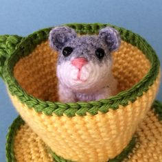 HAMSTER in TEA CUP Pdf Crochet Pattern by bvoe668 on Etsy