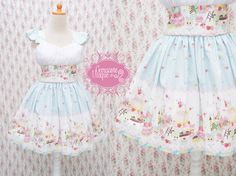 Blue Lolita Dress Alice In Cake Tart Land by CoruscateUnique, $178.00