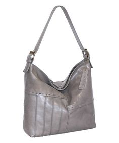 Stone Lilac Bouquet Leather Hobo #zulily #zulilyfinds