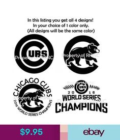 Chicago Cubs #1 Baseball Vinyl Decal 8 Car Truck Window Sticker