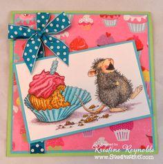 "HouseMouse ""Cupcake Belly"" http://www.ebay.com/itm/262286868435?ssPageName=STRK:MESELX:IT&_trksid=p3984.m1555.l2649 #creativity #cardmaking #CopicMarkers #papercraft #scrapbooking"
