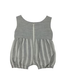f885668a1d3 Romper in Pebble with Pebble Stripe