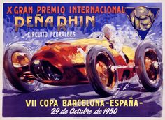 Vintage Poster: Racing Poster: Post War: Grand Prix