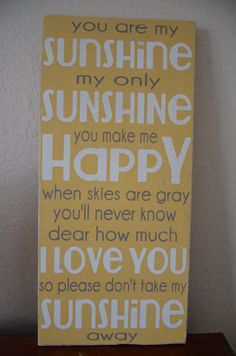 You Are My Sunshine Subway Wall Art  Childrens Wall Decal Vinyl Lettering    Nursery Wall Decal   Vinyl Wall Art   Girl Or Boy Bedroom | Art, ...