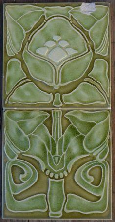 Alemanha-Villeroy & Boch-Majolica Antigo Art Nouveau 2-SET Telha C1900   Artigos antigos, Arquitetura e jardim, Azulejos e ladrilhos   eBay!