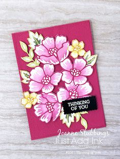 Karten Diy, Small Flowers, Exotic Flowers, Purple Flowers, Stamping Up Cards, Flower Cards, Homemade Cards, Your Cards, Birthday Cards