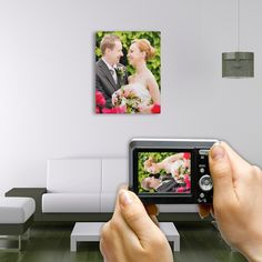 Your picture, wedding or other event or person, on canvas.