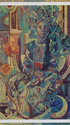 II - The High Priestess: The Crystal Tarot deck by Elisabetta Trevisan