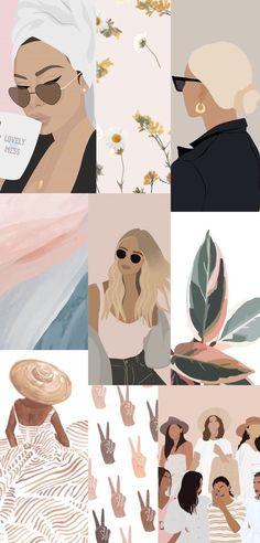 Graphic Illustration, Illustrations, Makeup Illustration, Ed Wallpaper, Arte Sketchbook, Cute Wallpapers, Iphone Wallpapers, Vintage Wallpapers, Aesthetic Art