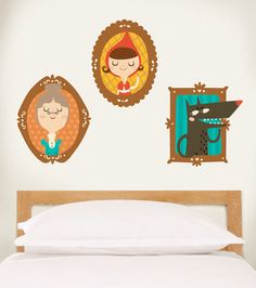 The Little Red Riding Hood in decor of the your bedroom.