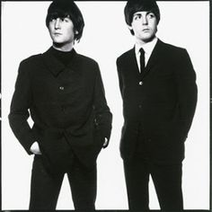 JOHN LENNON & PAUL McCARTNEY by David Bailey, 1965