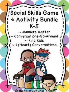 Looking for some fun ways to teach social skills and create a caring community? Save $ with this bundle! #SocialSkills #Counseling #SchoolCounseling