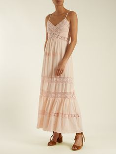 Click here to buy Rebecca Taylor Macramé-lace panelled cotton dress at MATCHESFASHION.COM