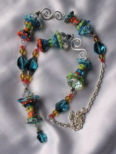 Marguaritaville Lampwork Necklace OOAK  SRAJD | therodeorose - Jewelry on ArtFire