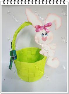 Goma eva Easter Crafts, Felt Crafts, Diy Crafts, Happy Easter, Easter Bunny, Punch Art, New Hobbies, Handicraft, Painted Rocks