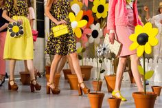 Orla Kiely SS15 Clarks Shoes collaboration. LOVE these platforms!