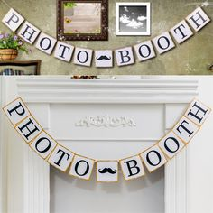 Hot Sale Festive & Party Supplies Party Decorations Bunting PHOTO BOOTH Vintage Banners Birthday Wedding Decoration Photo Prop