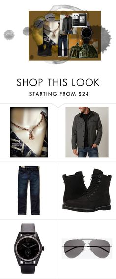 """""""MAN"""" by wirednstrung on Polyvore featuring BKE, Hollister Co., Timberland, Bell & Ross, Yves Saint Laurent, Bulgari, men's fashion and menswear"""