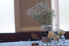 DIY Baptism centerpieces