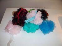 Make your own Bath Poufs!  Easy!