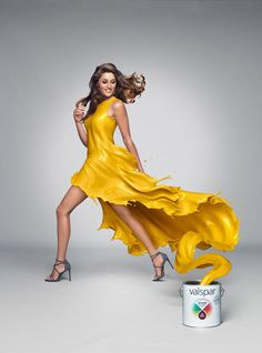 Nice Campaign for Valspar. I really enjoyed creating these dresses. It was done with Marvelous Designer and Zbrush and rendered in with Vray. Ads Creative, Creative Posters, Creative Advertising, Creative Photos, Advertising Design, Creative Design, Advertising Campaign, Fashion Advertising, Coreldraw