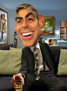 Rodney Pike Humorous Illustrator: George Clooney