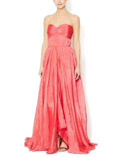 Pleated Sweetheart Gown from Cannes-Inspired Red Carpet Style on Gilt